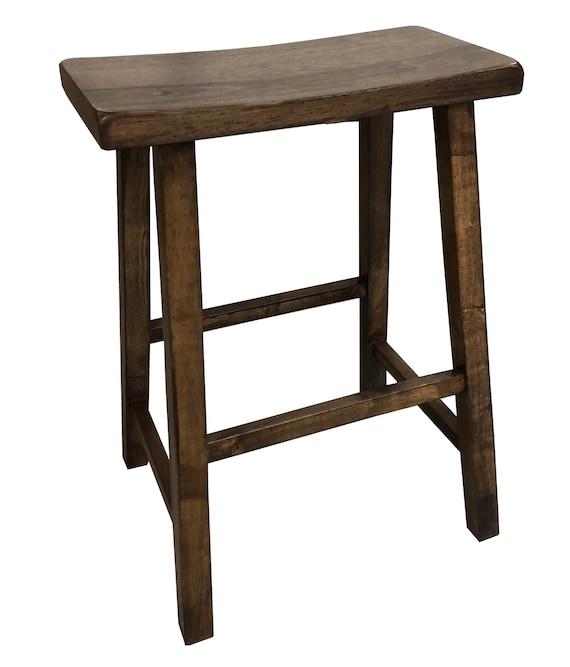 Peachy Dark Walnut Saddle Seat Stool Inzonedesignstudio Interior Chair Design Inzonedesignstudiocom