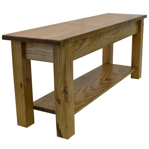 Superb Ranch Golden Oak Farmhouse Bench With Storage Shelf Rustic Solid Wood Bench Durable Polyurethane Clear Coat Gmtry Best Dining Table And Chair Ideas Images Gmtryco