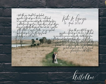 unique wedding gift for couple - unique engagement gift - wedding song - wedding vow keepsake - personalized anniversary -  wedding vows
