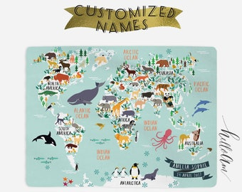 Map blanket etsy baby blanket custom baby blanket baby month milestone blanket personalized baby blanket track growth and age world map blanket gumiabroncs Choice Image