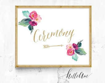 wedding ceremony sign - wedding sign - ceremony seating sign - seating sign - gold wedding sign -  choose a seat sign - modern wedding