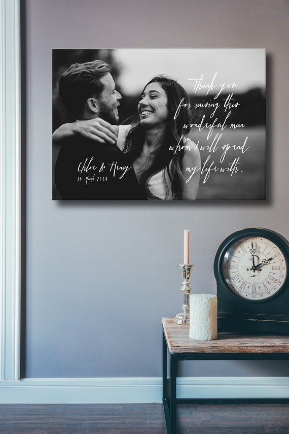 Wedding Gifts For Parents 1st Anniversary Gift Father Of The Etsy