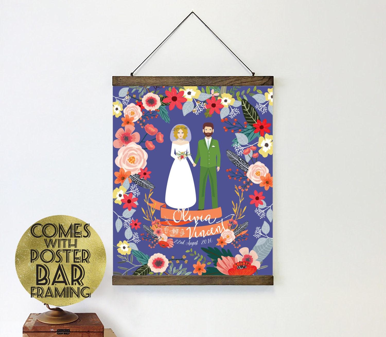Etsy Wedding Gift Ideas: Gift For Newlyweds Poster Hanger Wedding Gift Ideas Gift