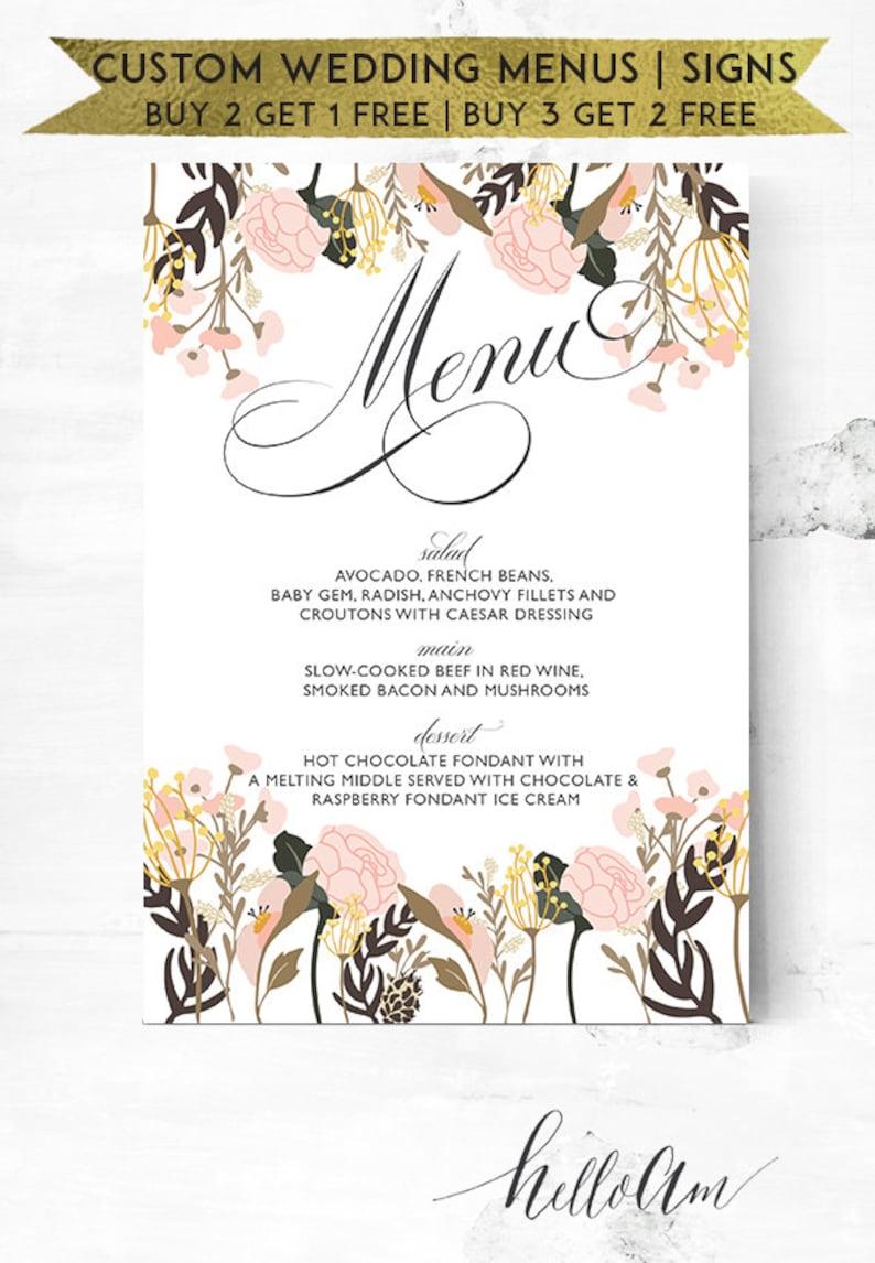 rustic wedding - wedding menu - wedding bar menu - menu template -  printable wedding - wedding thank you - bar menu sign - wedding menus