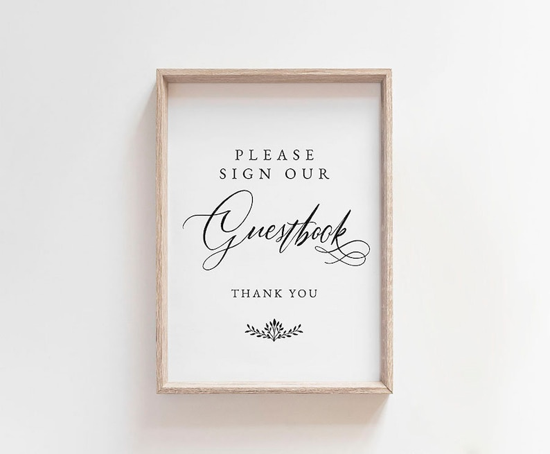 Guest Book Sign Guest Book Wedding Guest Book Ideas Wedding Printable Wedding Template Pdf Instant Download Guest Book Printable
