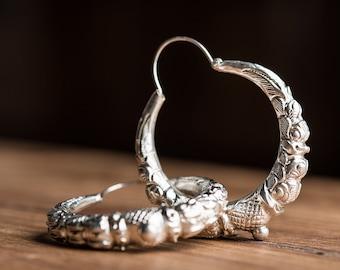 Silver Marwari Earrings (Large)