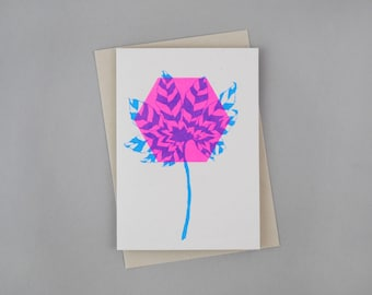 All Occasion Hand Printed Card 'Aralia'