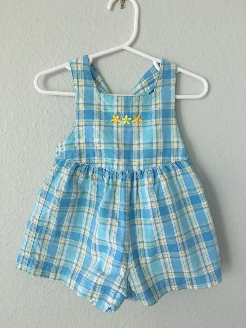 b19587ef63012 Vintage baby Gymboree sunsuit Infant overall shorts multi