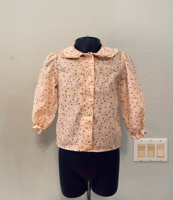 Vintage Health-Tex Jumper and Blouse, 70s girls c… - image 6