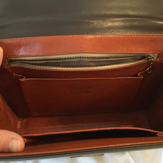 Vintage Escort purse, brown leather lined Kelly b… - image 2