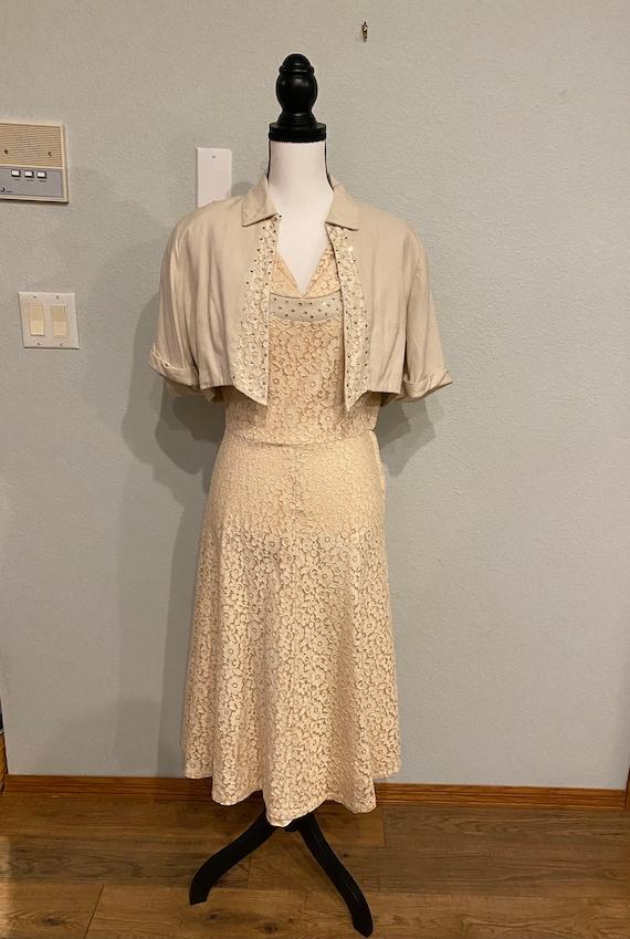 Vintage Lace Dress, Miss Bea-Tween dress and jacke