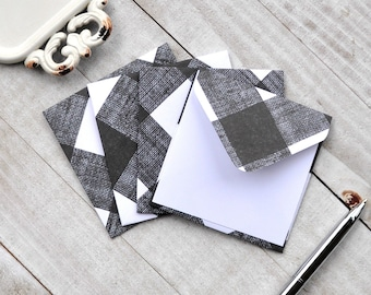 Blank Cards Small Stationery Assorted Plaid Mini Envelopes Plaid Note Cards Set of 28 Favor Cards Christmas Gift Enclosures