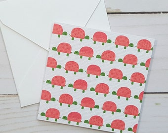 Turtle Mini Cards, Baby Shower Cards, Blank Note Cards, Advice Cards, Small Note Cards, Shower Gift Tags, Mini White Envelopes, Set of 4