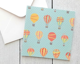 Baby Cards, Hot Air Balloons Mini Cards, Small Note Cards, Baby Shower Cards, Mini Envelopes, Set of 4