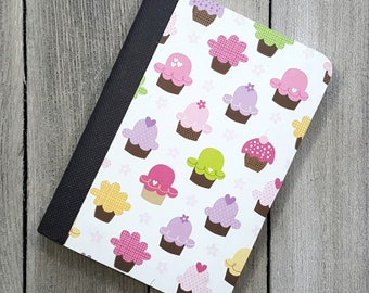 Cupcake Notebook, Cute Journal, Lined Notebook, Cupcake Diary, Writing Journal, Bullet Journal, Notepad, Journal, Diary, Gift For Her