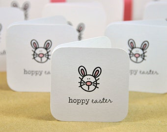 Easter Bunny Mini Cards, Childrens Easter Cards, Easter Basket Cards, Blank Bunny Note Cards, Small Note Cards, Bunny Gift Tags, Set of 10