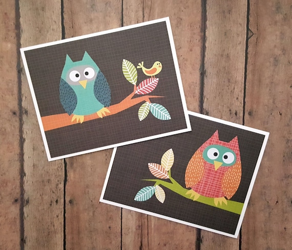 Owl greeting cards thinking of you cards just because cards etsy image 0 m4hsunfo