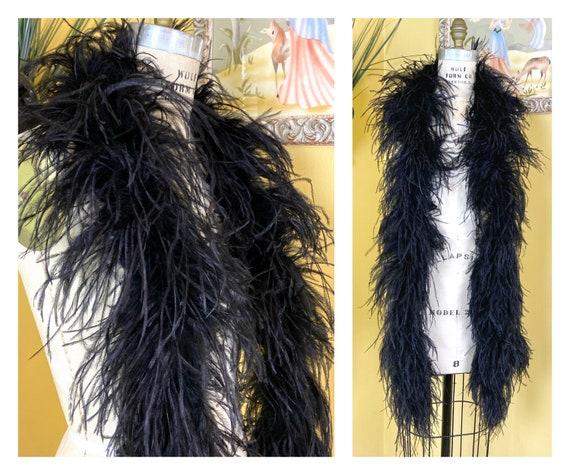 vintage 1920s boa // iconic black maribou ostrich