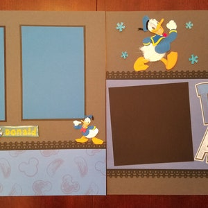 Disney Pluto Scrapbook Premade Layout 1 Page 12x12 Dog Pet Themed Scrapbook Layout Disneyland Shadow Box Frame as Gift Party Decoration