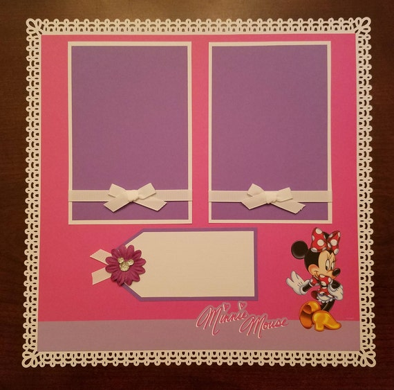 Disney Minnie Mouse Scrapbook Layout 1 Page 12x12 Etsy