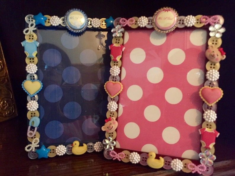 Babies Favorite Things button picture frame