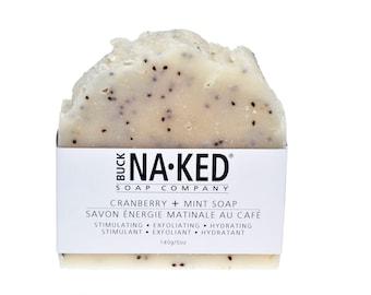Natural Soap Cranberry & Mint Soap - Soap, Vegan Soap, Mint Soap, Exfoliating Soap, Cold Process Soap, Soap, Glycerin Soap