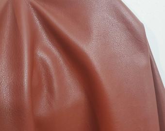 Leather 20 - 22 sq.ft. Spice Brown Fullgrain Nappa 1.2-1.4 mm 2.5-3.0 oz USA hide Genuine Cow skin for handbag footwear craft NAT Leathers