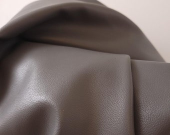 """Gray lamb touch soft thin 0.8 mm {Peta-Approved} Vegan faux leather for handbag upholstery Fabric 36""""x54"""" cut by the yard NAT Leathers™"""