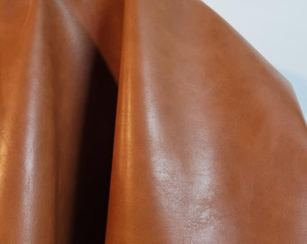 Golden Tan smooth nappa {Peta-Approved} Vegan faux leather fabric cut by the yard 54 inch wide pleather handbag upholstery NAT Leathers™