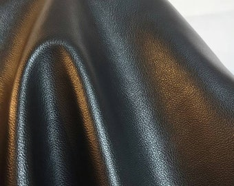 """Black lambtouch {Peta-Approved} Vegan leather handbag upholstery craft PU 0.8 mm fabric by the yard (36""""x54 inch) 1 - 20 yards NAT Leathers™"""