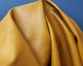 "Caramel Light Tan Gold {Peta-Approved} Vegan faux leather handbag upholstery craft 0.9mm PU Fabric 36""x54"" 1-5 cut by the yard NAT Leathers™"