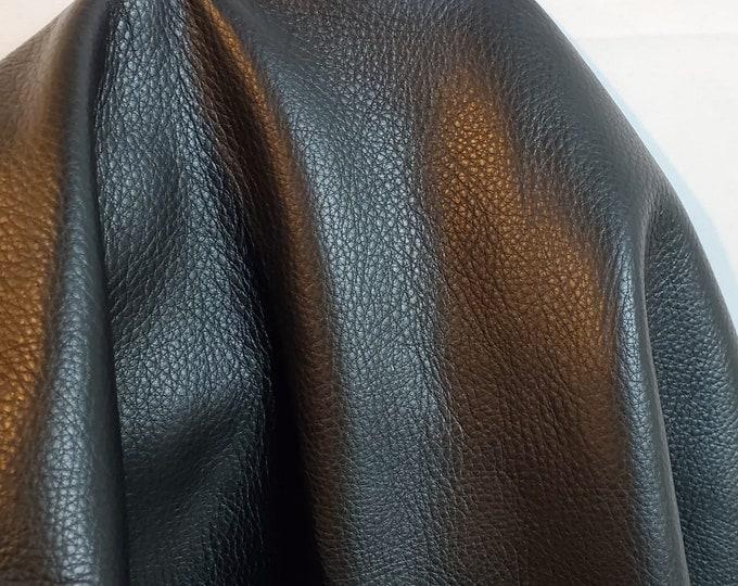 Featured listing image: 20-26 sq.ft. Black Aniline natural tumble grain soft Fullgrain 2.5 oz Nappa Cowhide upholstery craft handbag hide 2.0-2.5 oz NAT Leathers
