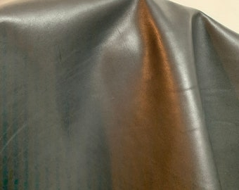 NAT Leathers 12 sf One of a Kind Smooth Black Nappa 2.5 oz 1.0-1.2 mm skin for handbag craft jewelry upholstery footwear