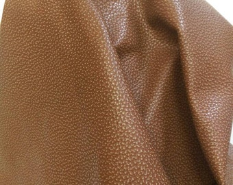 Leather Cognac embossed tumbled Royalty upholstery cow leather skin cowhide 18 -20 sf soft 2.5 oz nappa tumblegrain