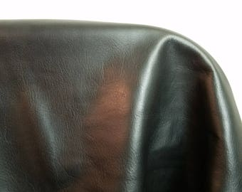 about 32 inches x 55 inches 20 sq.ft skin Italian Black Aniline Prima  butter soft Fullgrain skin Nappa Cowhide upholstery NAT Leathers