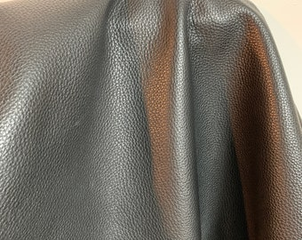 NAT Leathers One of a Kind 16 sf Thick Jet Black Nappa Cowhide 2.5 oz 2 mm cowhide for handbag craft jewelry upholstery footwear