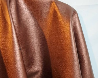 NAT Leathers 11 to 20 sf Rose Gold Brass Pearlized Smooth Nappa 3 oz 1.0-1.2 mm cowhide for handbag craft jewelry upholstery footwear