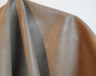 """Taupe Faux soft smooth {Peta-Approved}Vegan faux leather handbag upholstery craft 0.9 mm PU Fabric 36""""x54"""" 1-5 cut by the yard NAT Leathers™"""