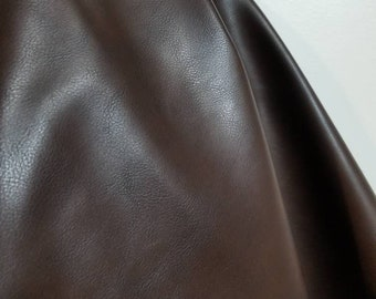 Brown pebbled Faux Vegan Peta Approved leather handbag upholstery craft PU Fabric by the yard 36 inches Synthetic 1 - 5 yards NAT Leathers™