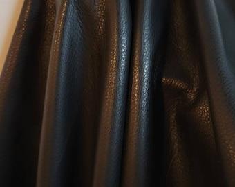 "21 sq.ft. Black Fullgrain tumbled Nappa Cowhide Upholstery grade Italian (at least 33 ""x 55"") Soft 2.5 oz cow hide handbag NAT Leather"
