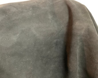 NAT Leathers One of a Kind 11 sf Black Suede 2.5 oz 1.0-1.2 mm skin for handbag craft jewelry upholstery footwear