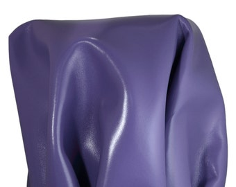 Leather skin Purple 19-25 sq.ft. calf 2.5 oz  Cow hide firm craft straps seating shoe cowhide NAT Leathers