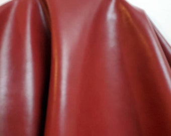 """Burgundy {Peta-Approved} Vegan leather handbag upholstery craft pleather PU 0.9 mm fabric by the yard (36""""x54 inch) 1-5 yards NAT Leathers™"""