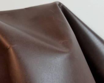 14-20 sq.ft Leather Brown Crazy Horse Oil pull up Crazy Horse 2.5-3.0 oz cow hide leather skin cowhide semi firm for craft NAT Leathers
