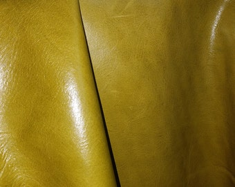 Palm Green Evolution Nappa 18 up to 29 sq.ft Soft Nappa 2.5 oz Leather skin Cow hide Italian upholstery craft cowhide 2.5 oz NAT Leathers