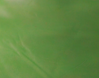 Leather 16-20 sq.f  Leaf Green Calf smooth 2.5-3.0 oz 1.0 mm topgrain Cowhide by NAT Leathers about 30 inches wide x 55 inches long