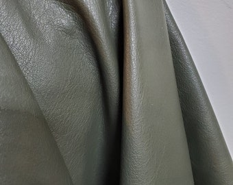 Olive Green Cow nappa we have NAT Leathers 19-22 sq.ft soft smooth fullgrain nappa Cow hide cowhide leather skin 2.5 oz 1.2 mm