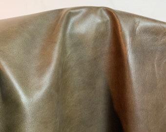 NAT Leathers 14-19 sf Army Green Embossed 2.5 oz 1.0-1.2 mm Nappa cowhide for handbag craft jewelry upholstery footwear