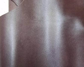 Leather Piece 16 - 20 sq.ft dark brown saffiano 2.5 oz 1.0 mm Cow hide skin topgrain NAT Leathers craft handbag footwear cowhide