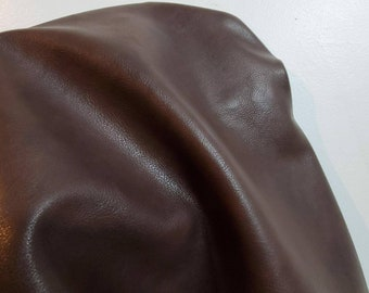 Brown 2 tone high low Faux Vegan {Peta Approved} leather upholstery craft PU Fabric sold by the yard Synthetic NAT Leathers™ 0.9 mm